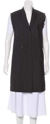 Brunello Cucinelli Monili-Trimmed Wool Vest