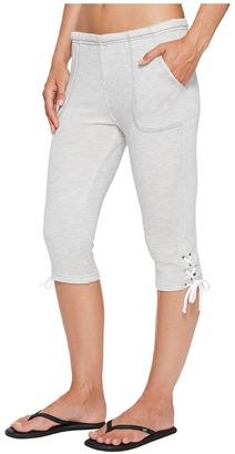 Hard Tail - Lace-Up Capris Women's Capri $84 thestylecure.com