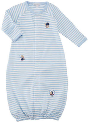 Kissy Kissy Fall Sports Striped Convertible Gown, Size Newborn-S