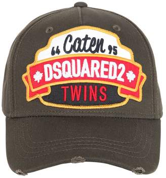 06d82376e21 DSQUARED2 Caten Twins Patch Cotton Baseball Hat