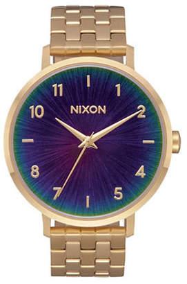 Nixon Arrow Goldtone Analog Watch