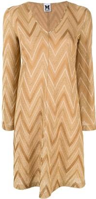 M Missoni zigzag pattern dress
