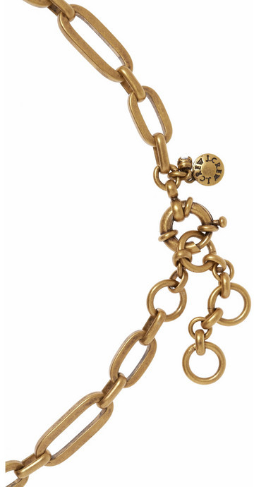 J.Crew Gold-tone crystal necklace