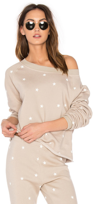 Wildfox Couture Fleece Football Star Sweatshirt $98 thestylecure.com