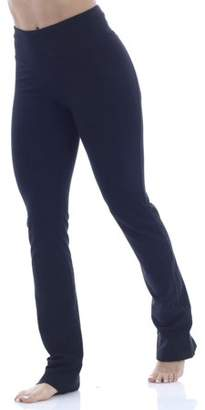 Bally Total Fitness Women's Core Active High Rise Relaxed Fit Yoga Pant