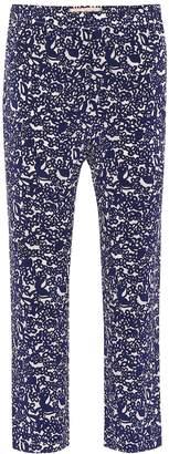 Marni Printed cropped silk pants