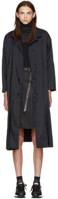 Issey Miyake Black Hooded Long Coat