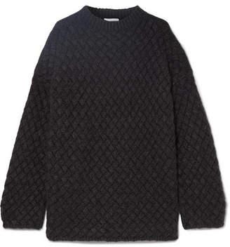 Mansur Gavriel Oversized Basketweave Cashmere Sweater - Gray