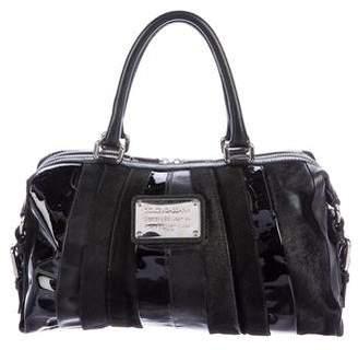 Dolce & Gabbana Ponyhair & Leather Satchel