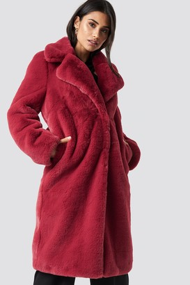 a9b8eeef96fc3 ... Di Lara Dilara X Na Kd Faux Fur Maxi Coat Poppy Red