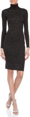 Faith Connexion Printed Turtleneck Bodycon Dress