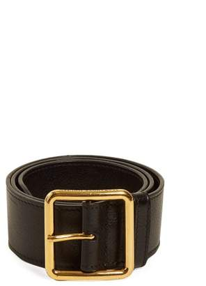 Alexander McQueen Leather Waist Belt - Womens - Black