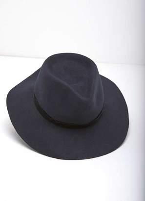 Mint Velvet Navy Wide Brim Fedora Hat