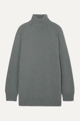 Dries Van Noten Tanner Knitted Turtleneck Sweater - Gray