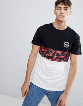 Hype t-shirt with rose panel