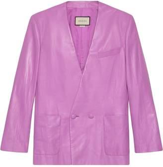 Gucci Oversize leather jacket