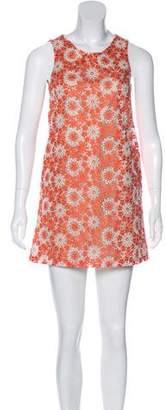 Rachel Antonoff Embroidered Mini Dress