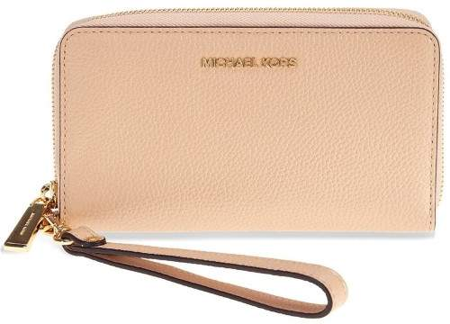 Michael Kors Mercer Large Leather Smartphone Wristlet - Oyster - 32F6GM9E3L-134 - ONE COLOR - STYLE