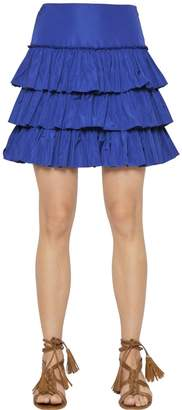 Blugirl Tiered Ruffled Taffeta Skirt