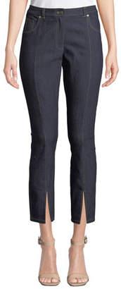 Cinq à Sept Rosa Mid-Rise Split Straight-Leg Pants