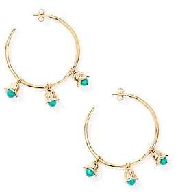 """Aurelie Bidermann Women's Lily Of The Valley Turquoise Hoop Earrings/2"""""""