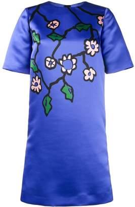 Marni satin floral print dress