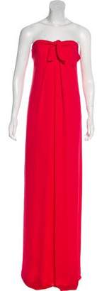 Halston Strapless Maxi Dress w/ Tags