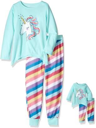 Komar Kids Big Girl's Unicorn 'me AND My Dream Doll' Set Sleepwear