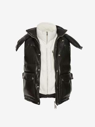 Alexander McQueen Lambskin Leather Down Jacket