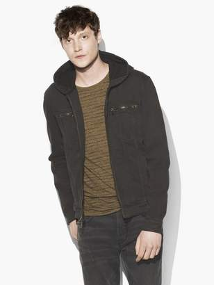 John Varvatos Hooded Trucker Jacket
