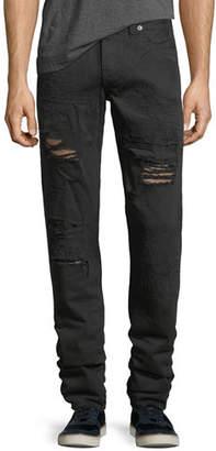 True Religion Geno Distressed Slim-Straight Jeans