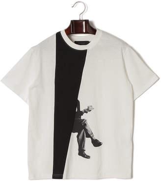 LIBRARY (ライブラリー) - TEE LIBRARY Crossing legs アートプリント クルーネック 半袖Tシャツ アイボリー/ブラック l