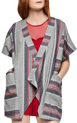 BCBGeneration Striped Flannel Cardigan
