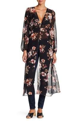 Meghan LA Floral Long Sleeve Maxi Blouse