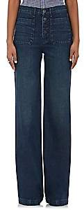 Barneys New York XO 3X1 XO 3X1 WOMEN'S REDDING WIDE-LEG JEANS - BLUE SIZE 24