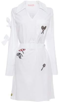 Tomcsanyi - Marosi Badge Detail Tie Sleeve Shirtdress