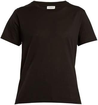 Saint Laurent Logo-appliqué sheer cotton jersey T-shirt