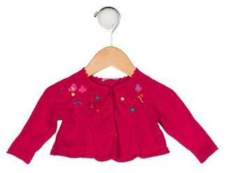Catimini Girls' Appliqué-Accented Knit Cardigan