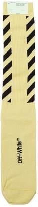 Off-White Diagonals Cotton Knit Socks