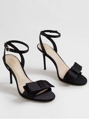MANGO Bow Front Heels - Black