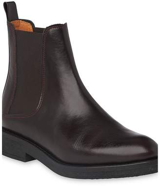 Whistles Leather Arno Rubber Sole Chelsea Boots - Brown
