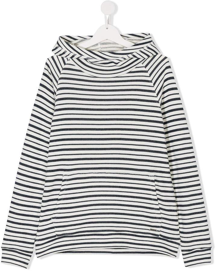 Woolrich Kids teen striped hoodie