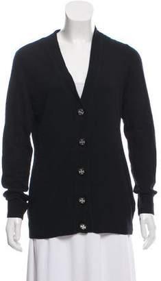 Tory Burch Wool-Blend Button-Down Cardigan