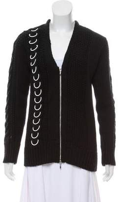 Edun Wool Zip-Up Cardigan