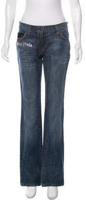 Philipp Plein Embellished Mid-Rise Jeans