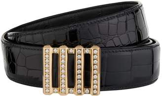 Stefano Ricci Diamond Encrusted Crocodile Skin Belt