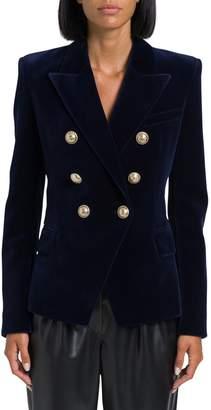 Balmain Velvet Classic Double Breasted Blazer