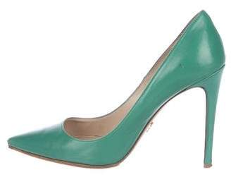 Prada Leather Pointed-Toe Pumps
