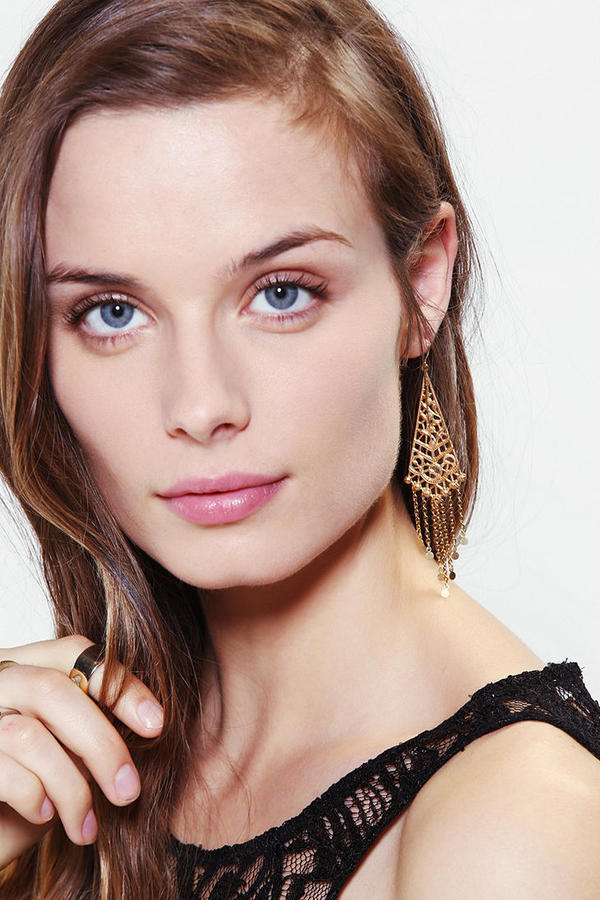 Urban Outfitters Dripping Triangle Earring