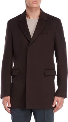 Jil Sander Dark Brown Hidden Button Coat